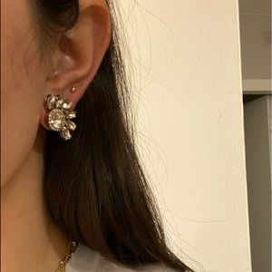 Juicy Couture elegant spiked diamond earring